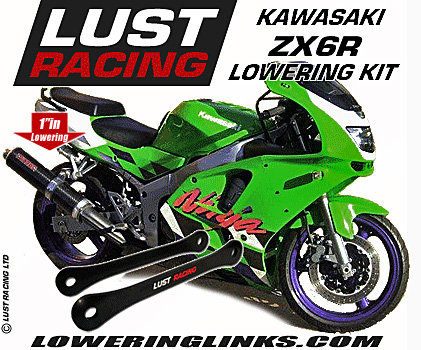 Kawasaki ZX6R Lowering links F1-F3 1995-1997. 1 inch lowering kit