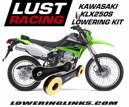 Kawasaki KLX250S lowering link kit 2 inch