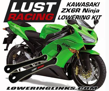 XKMT-Silver Lowering Links Compatible With 2003-2005 Kawasaki Zx-6R Zx600 Zx-6Rr Zx-12R Zx1200 B00YWCUJCQ