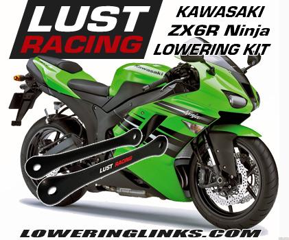 Kawasaki ZX6R Ninja Lowering links 2007-2008 1 inch