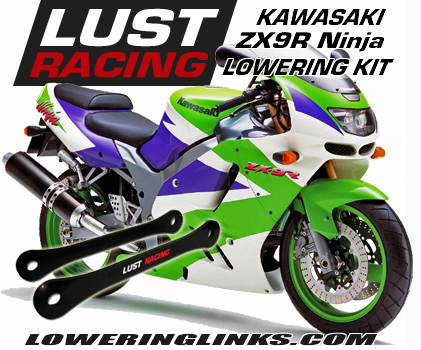 Kawasaki ZX9R Lowering kit 1.6 in B1 B2 B3 B4 1994-1997